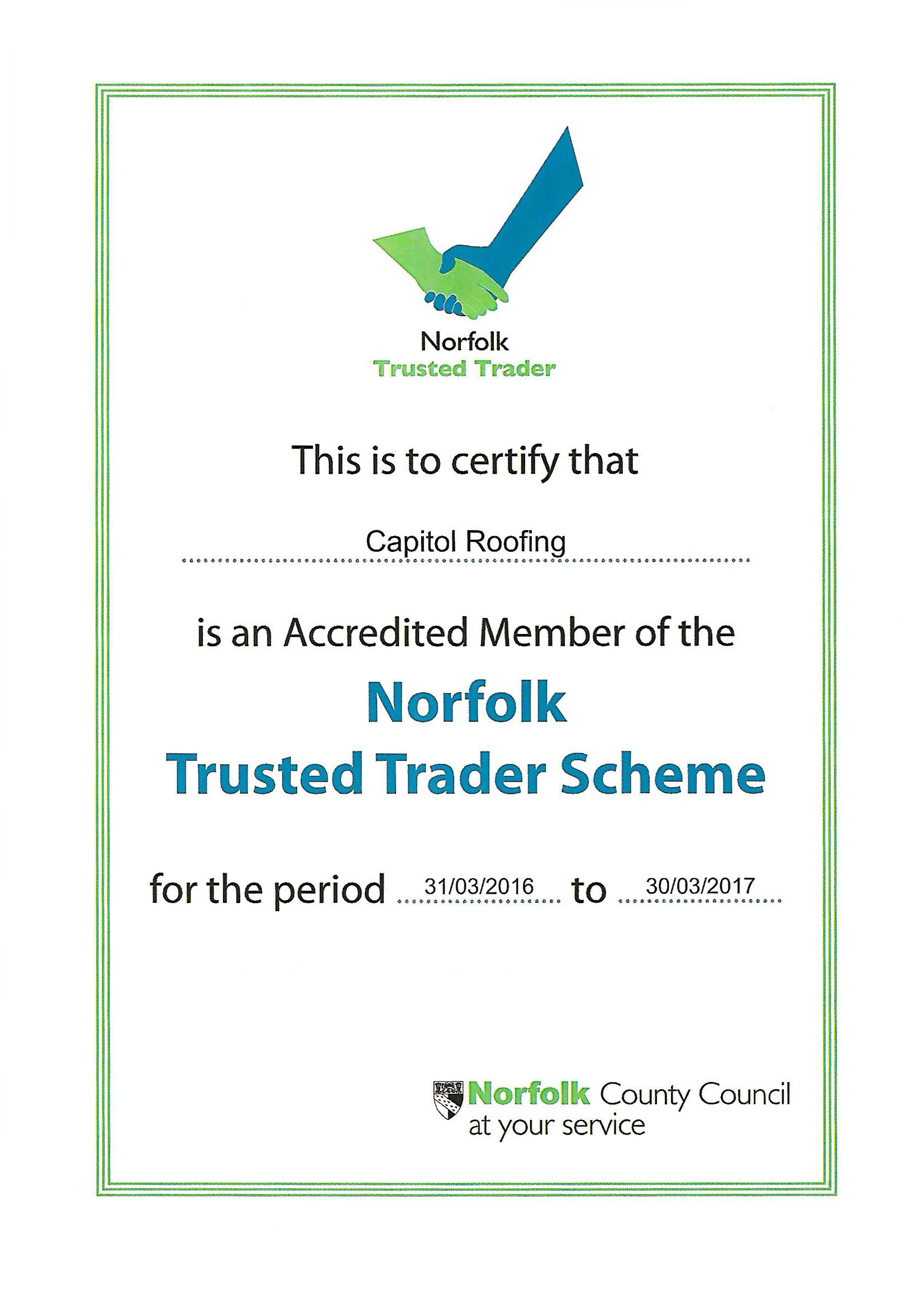 Trusted Trader Certificate